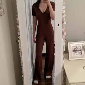 Nwt Urban Outfitters Brown Jumpsuit Comfy Small